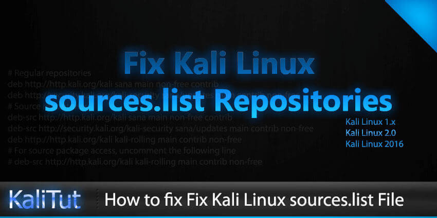 kali linux repository