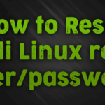 What is kali Linux default password and how to reset it