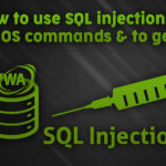 How to use SQL injections to execute OS commands and to get a shell