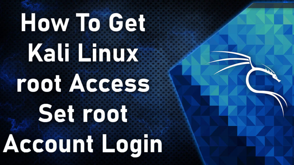 kali linux root password