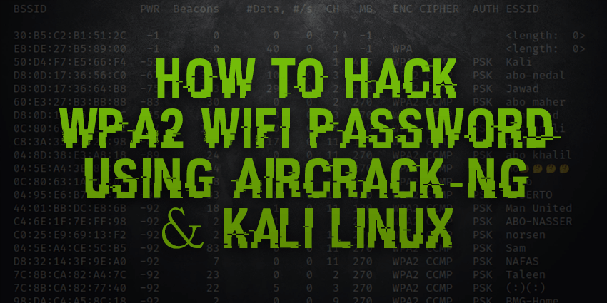 How to crack wpa2 with kali linux